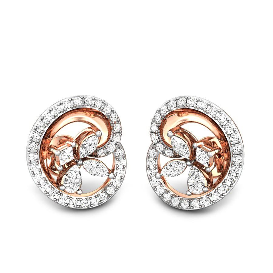 com cut earrings flat ct stud yellow circle ip mens pave diamond large gold round walmart