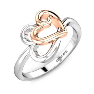 Ardour Hearts Gold Ring