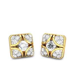 Pillow Solitaire Diamond Earrings