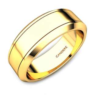 Zac Gold Wedding Band For Him